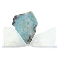 Crystal Healing Set 24 Ulexite Larimar Stone Third Eye Throat Chakra