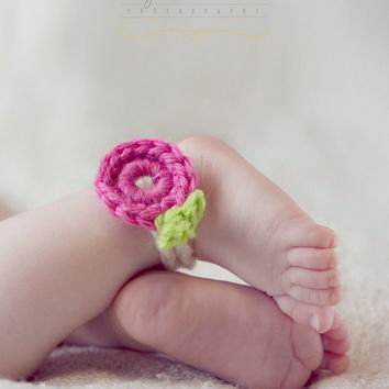 Kids Barefoot Foot Jewelry Newborn Photo Prop Pair Anklets Bracelet Brooch Spring