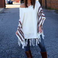Outback Poncho {Ivory}