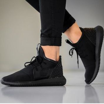 Women Men Running Sport Casual Shoes Sneakers Pure black scale-1