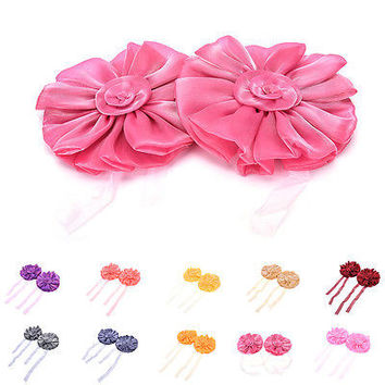 2PCS Window Curtain Tieback Flower Buckle Rope Curtain Strap Home Decorations HU