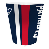 New England Patriots NFL 10 Bath Waste Basket