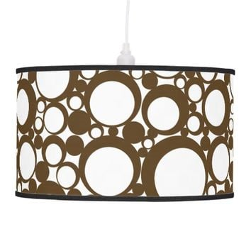 Brown Abstract Polka Dot Geometric Modern Art Ceiling Lamp