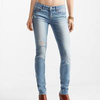 Light Wash Destroyed Skinny Jean -