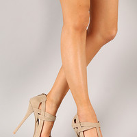 Qupid Pinch-19 Strappy Open Toe Heel