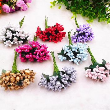 10 PCS (9 cm/beam) artificial berries big bead star keiko wedding bouquet/home garden decoration wreath of DIY gift box collage