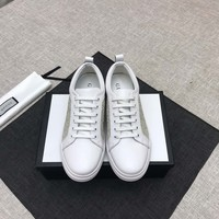 Gucci mens Fashion Boots fashion Casual leather Breathable Sneakers Running Shoes Sneakers