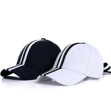 Trendy Winter Jacket Fibonacci 2018 New Black White Stripes Baseball Cap Bow Tie Adjustable With 6 Panel Hat for Men Women Snapback Polo Cap AT_92_12