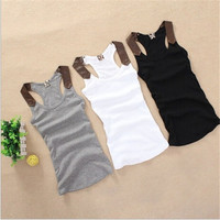 New Fashion Women Blouse Tank Tops Fashion PU Strapless Tops Ladies Tank Top = 5660768001