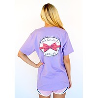 I'm a Seersucker for a Boy in a Bow Tie Tee in Lavender by Lauren James - FINAL SALE