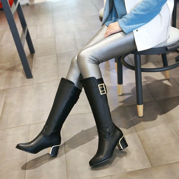 On Sale Hot Deal Plus Size Knee-length With Heel Winter Dr. Martens Boots [6366197828]