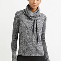 Space-Dye Funnel Neck Pullover