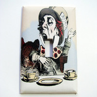Light Switch Cover - Light Switch Plate Mad Hatter Alice In Wonderland