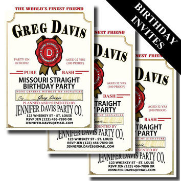Custom Jim Beam Birthday Invite - Printable Do It Yourself