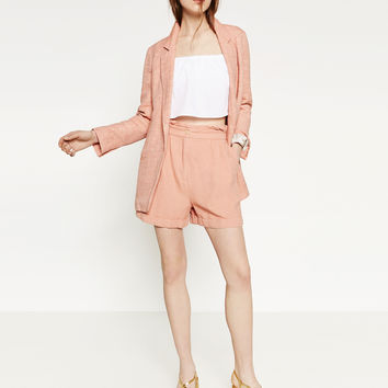 FLOWING LINEN BLAZER - BLAZERS-WOMAN | ZARA United Kingdom