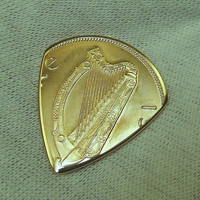 Irish Coin Guitar Pick - Handmade with a Vintage 1968 - Big Copper Penny from Ireland