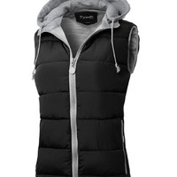Thanth Womens Padded Down Vest Bodywarmer Hooded Vest