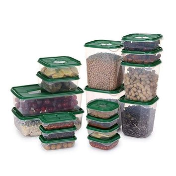 17pcs/set Plastic Food Storage Box