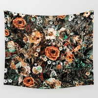 SPACE GARDEN IV Wall Tapestry by Valentinasevza