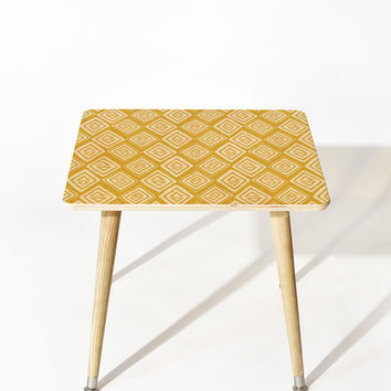 Heather Dutton Diamond In The Rough Gold Side Table