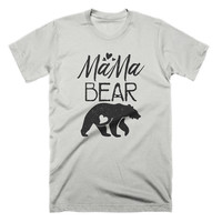 Mama Bear T Shirt Funny Moms Shirt Gifts For Mothers New Baby Announcement Tee