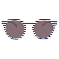 Illesteva Leonard II Blue Stripe Sunglasses - Blue & White Stripe Sunglasses - ShopBAZAAR