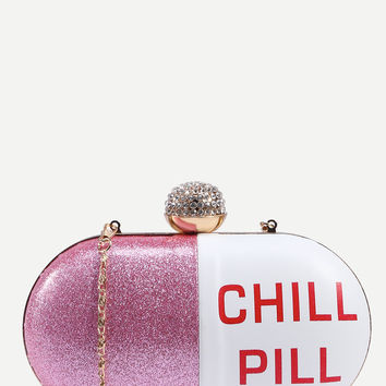Bejeweled Chill Pill Clutch Bag