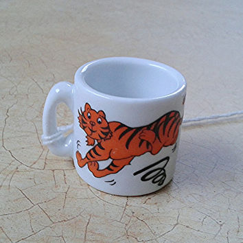 retro tiger mug tiny collectible tony the tiger antique retro coffee cup