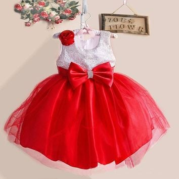 Flower Girl Wedding Dresses Sequins Princess Dress Girl Kids Party Gown Designs Children's Costume For Little Girl 3 5 6 8 Years