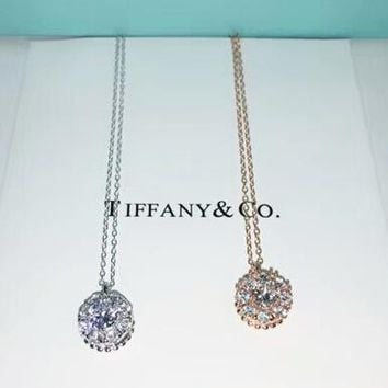 Tiffany   CO New fashion diamond pendant sterling silver necklac 4b9f62f60006