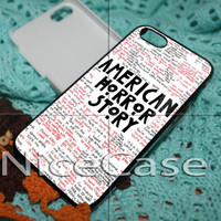 American Horror Story Quote for iPhone 4 / 4S / 5 / 5c / 5s Case Samsung Galaxy S3 / S4 Case Cover