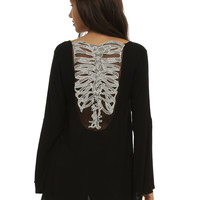 Rib Cage Bell Sleeve Girls Top