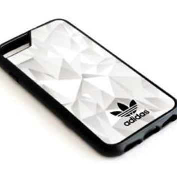 TL01-Adidas White Abstract Triangle iPhone 5 5s 6 6s 7 Plus SE Hard Plastic Case