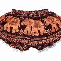 summer shorts pants Elephant pants shorts bohemian/Shorts Boho pants harem pants/shorts elephant pants/comfy pants/Hippie Hipster clothes