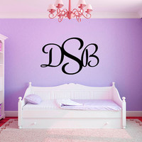 Personalized Initial Monogram Name #2 Girls Nursery Room Vinyl Wall Decal Graphics Bedroom Home Decor