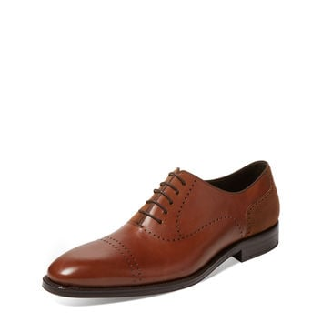 Mezlan Men's Leather Derby - Cognac -
