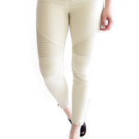 Sierra Moto Leggings Light Stone