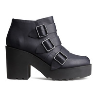 H&M - Platform Boots - Dark blue - Ladies