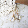 pre-order ANGEL crystal drop chandelier earrings (gold)
