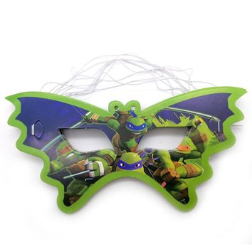 Birthday Party Kids Favors ninja turtles Design Eye Cover Decoration Happy Baby Shower Paperboard Masks Events Supplies 10PCS