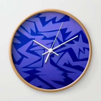 Electric Pop Wall Clock by Ducky B