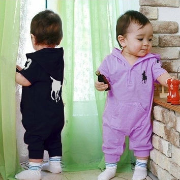 Baby Rompers Clothes Newborn One-Piece Layette Sport Infantil Jumpsuit Boy Girl Summer Set Cute Kids Clothing = 1958084548