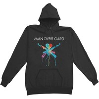 Man Overboard Men's  Heart Attack Hooded Sweatshirt Black Rockabilia