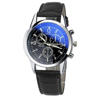 Mens Watches Top Brand Luxury Faux Leather Analog Watch Wristwatch Mujer Relojes Waterproof Relogio Montre Homme