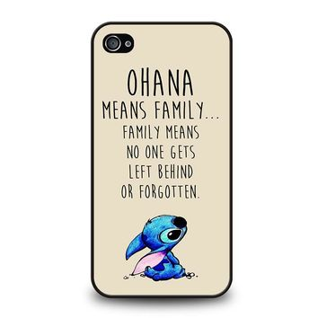 STITCH LILLO OHANA FAMILY QUOTES iPhone 4 / 4S Case Cover