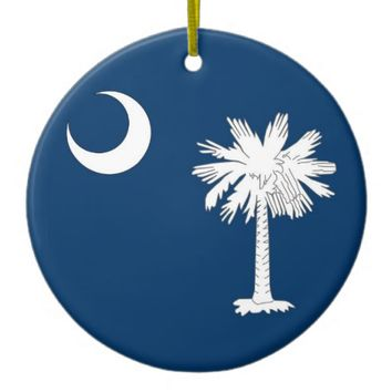 Ornament with flag of South Carolina