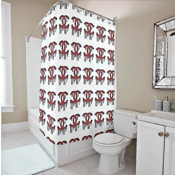 Shower Curtain- Dripping C's Multi