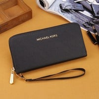 Black MK Michael Kors Leather Wallet