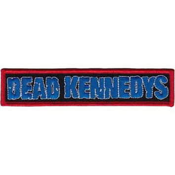 Dead Kennedys Iron-On Patch Blue Letters Logo
