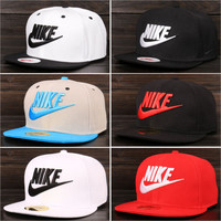 Nike Tech Swoosh Cap, Black/White, Size can be adjusted Full color